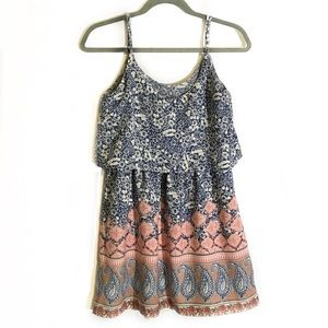 Abercrombie and Fitch | layered boho tank dress S